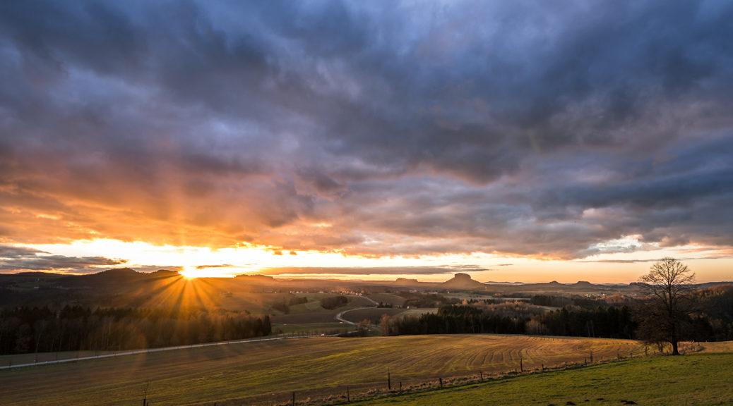 Sonnenuntergang Sächische Schweiz