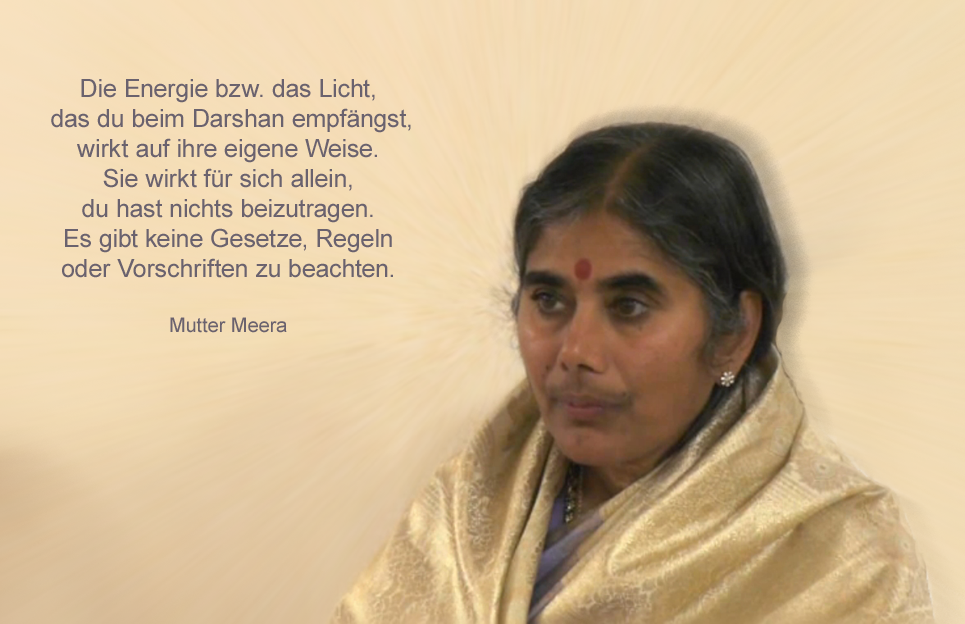 Energie Darshan Mutter Meera