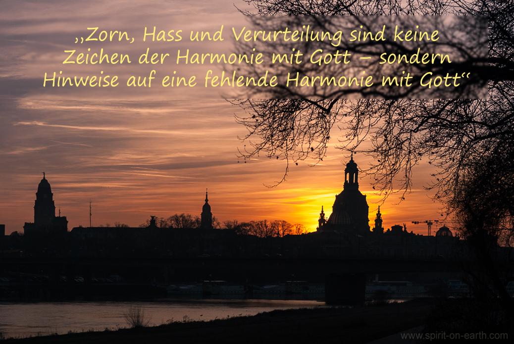Harmonie mit Gott