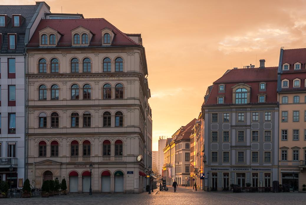 Dresden-Neumarkt-Sonnenaufgang