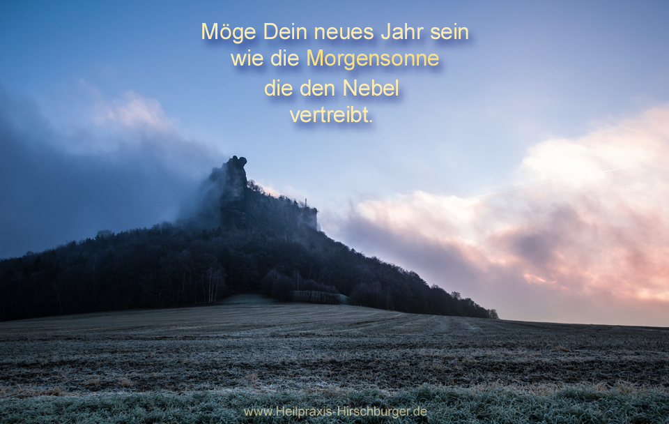 Neujahr-Sonnenaufgang-Lilienstein