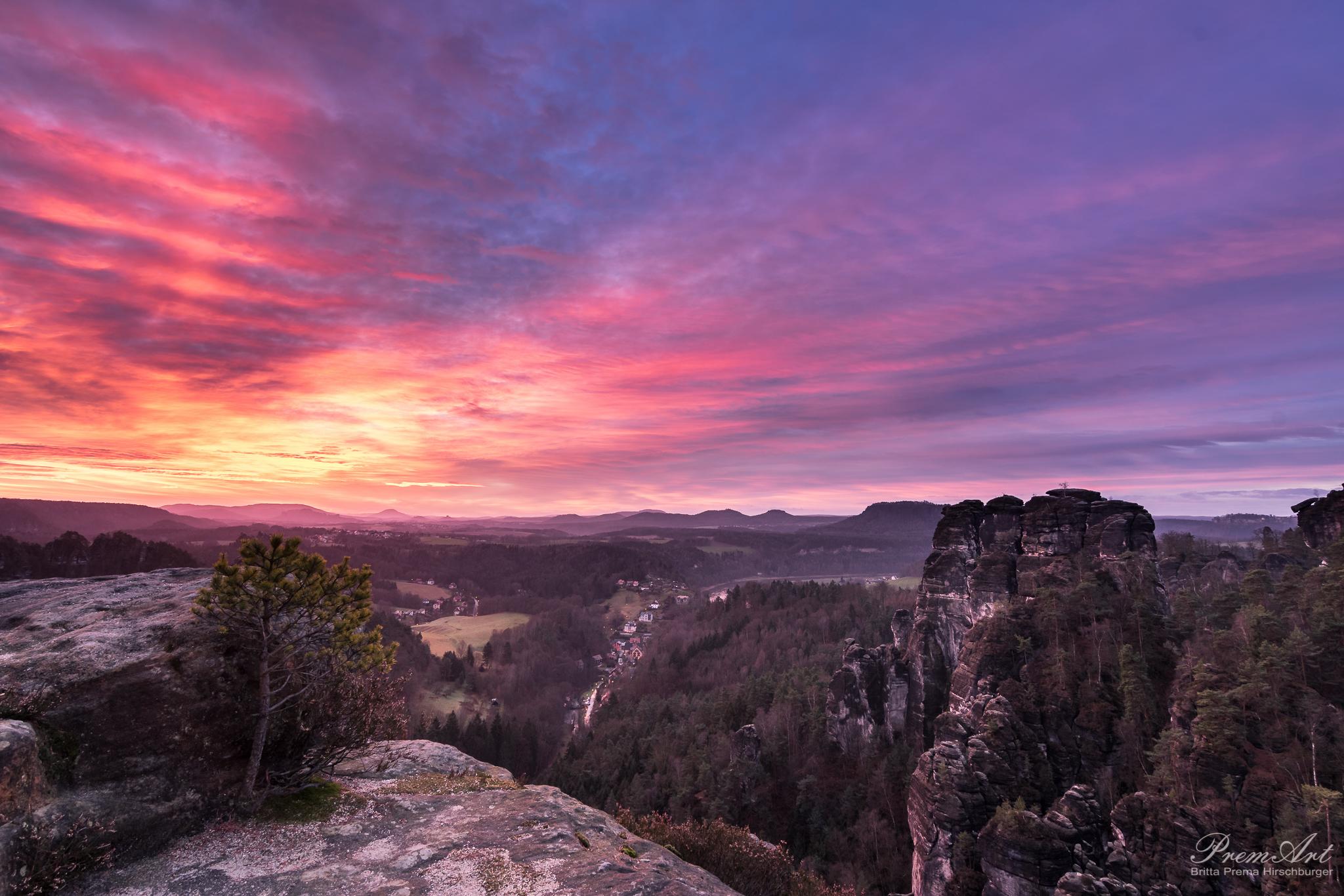 Sonnenaufgang Bastei Sächsische Schweiz