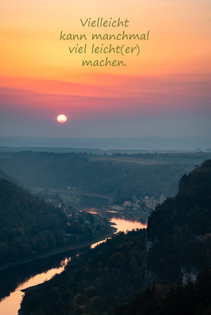 Sonnenuntergang Bastei Sächsische Schweiz