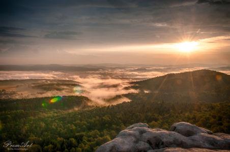 Lichtblick - Sonnenaufgang Sächsische Schweiz