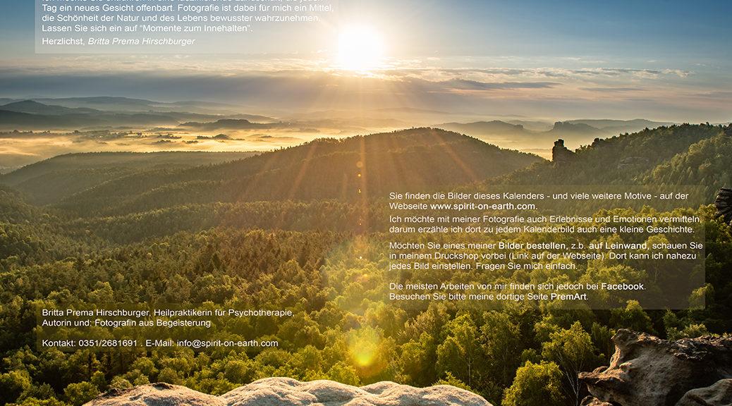 Sonnenaufgang auf dem Gohrisch - Kalender 2019 Deckblatt 1 - Sächsische Schweiz